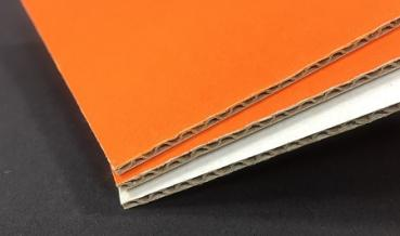 1.3 E Welle 1,6mm Wellpappe orange 1020x1620mm