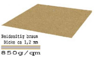 Vollpappe braun 850g 1200x1000x1,2 mm